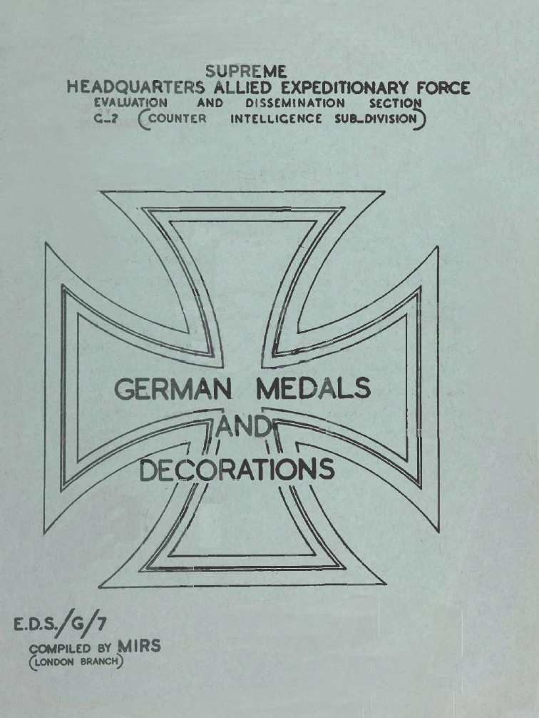 German Medals and Decorations 1945 (eng)